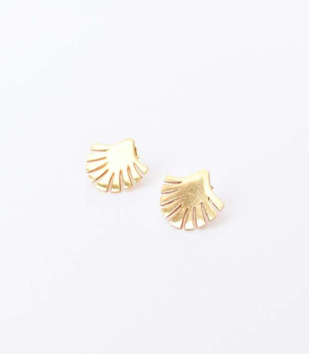 Retro Palm Stud Earrings