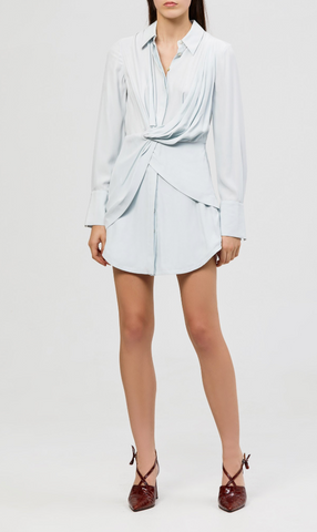 Alma Silk Shirt Dress