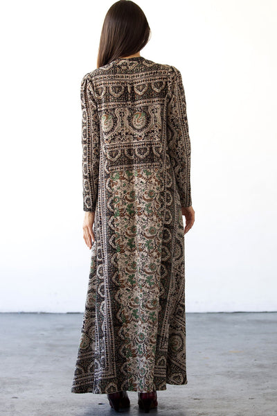 Cassie Maxi Dress - Kashmir Taupe Tapestry