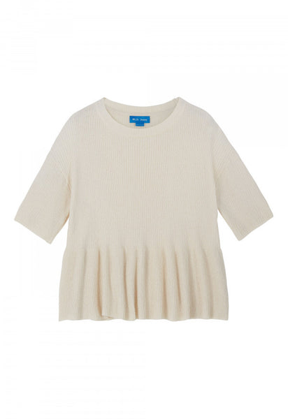 Peplum Sweater - Ivory
