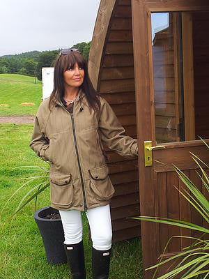 Ladies Hooded Shooting Country Coat