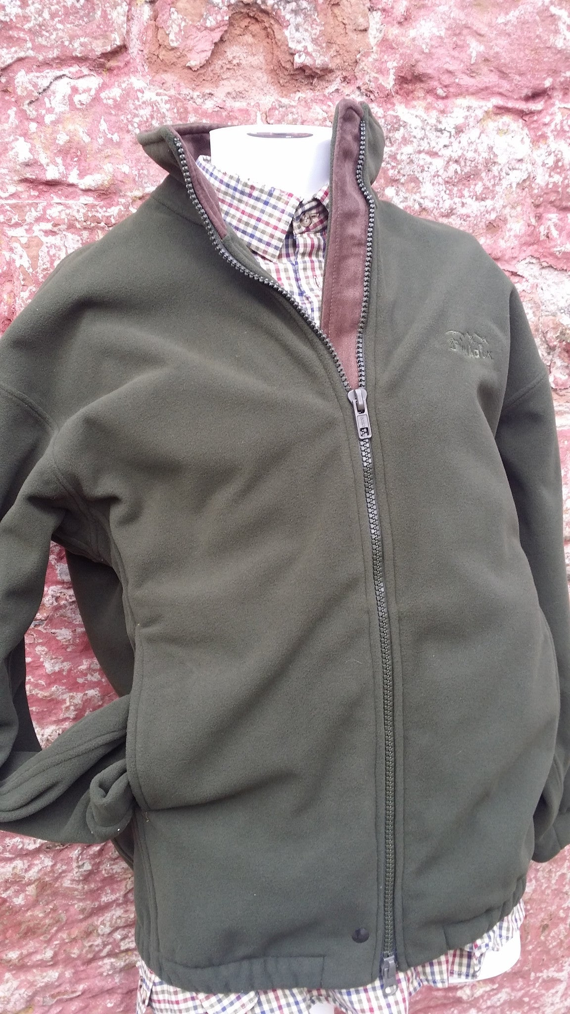 Stealth Olive Green & Khaki  Zip Country Sweater