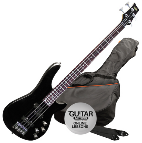 Ashton Bass Guitar Pack, Black