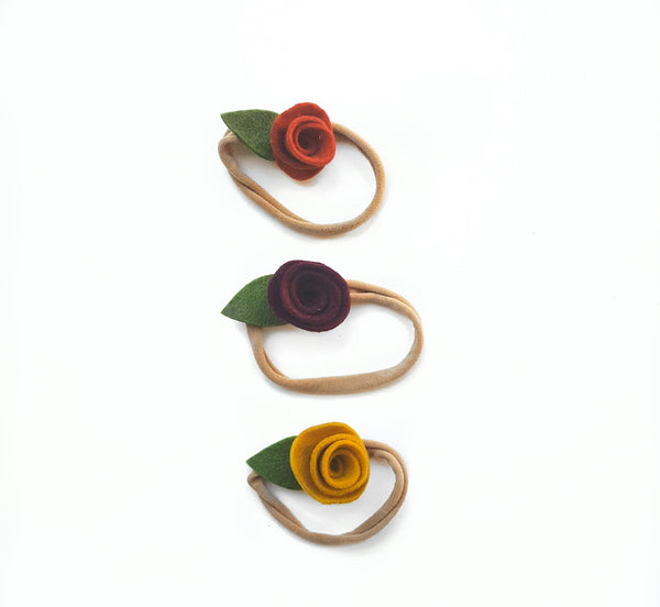 Fall Micro Rosette Trio Set