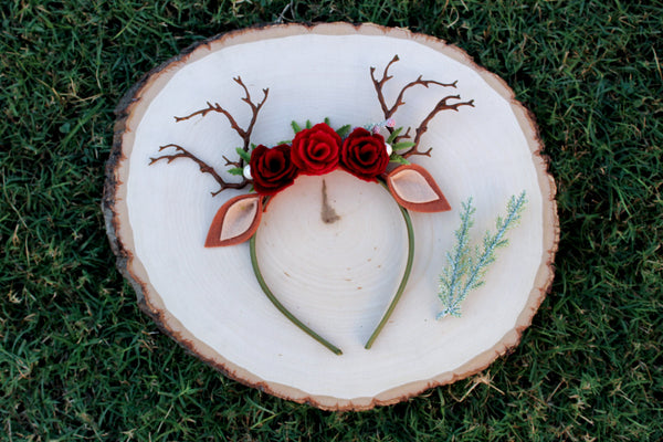 Woodland Reindeer Floral Crown