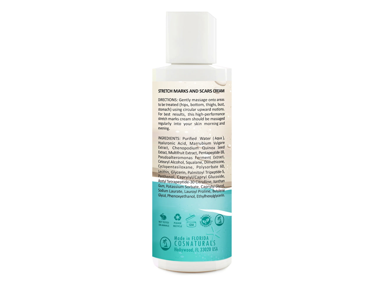 STRETCH MARKS AND SCARS CREAM, 4 fl oz / 120ml