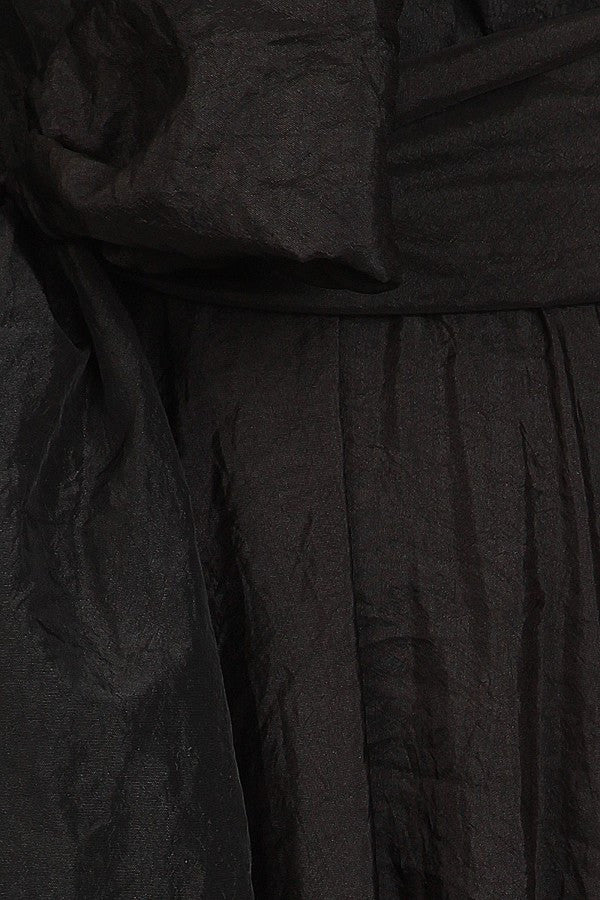 Taffeta Wrapped Evening Dress