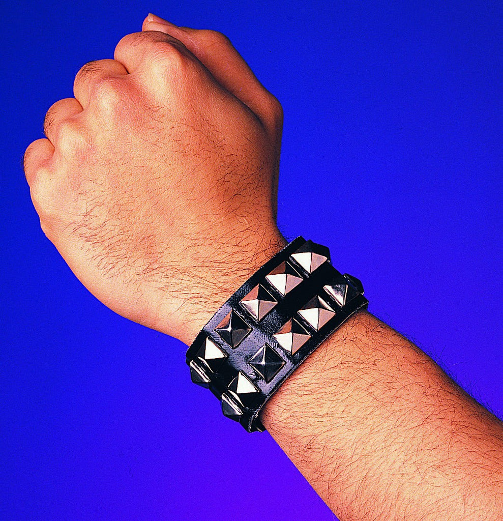 Black Double Studded Wristband