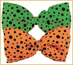 Neon Dotted Jumbo Bow Ties - Various Colors