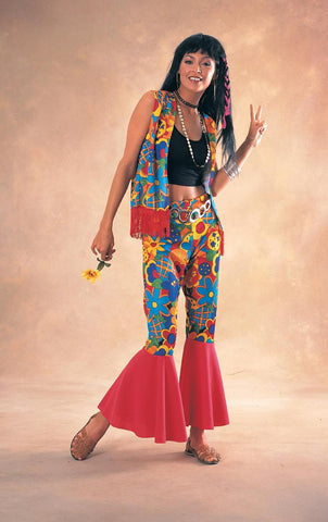 Womens Flower Power Hippie Costume