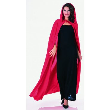 Red Full Length Hooded Cape