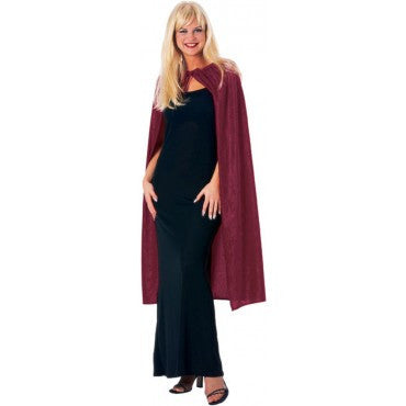 Burgundy Soft Velvet Cape