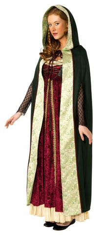 Adults Green Camelot Cape