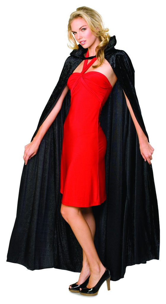 Black Full Length Velvet Cape