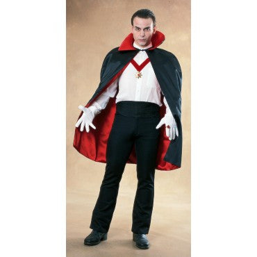 Deluxe Black/Red Reversible Satin Cape