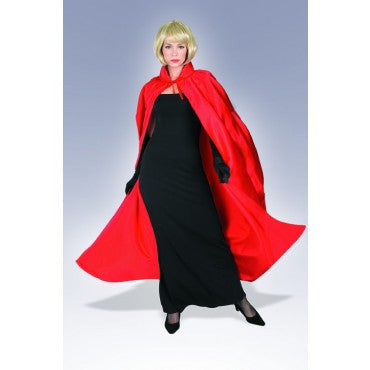 Red Full Length Satin Cape