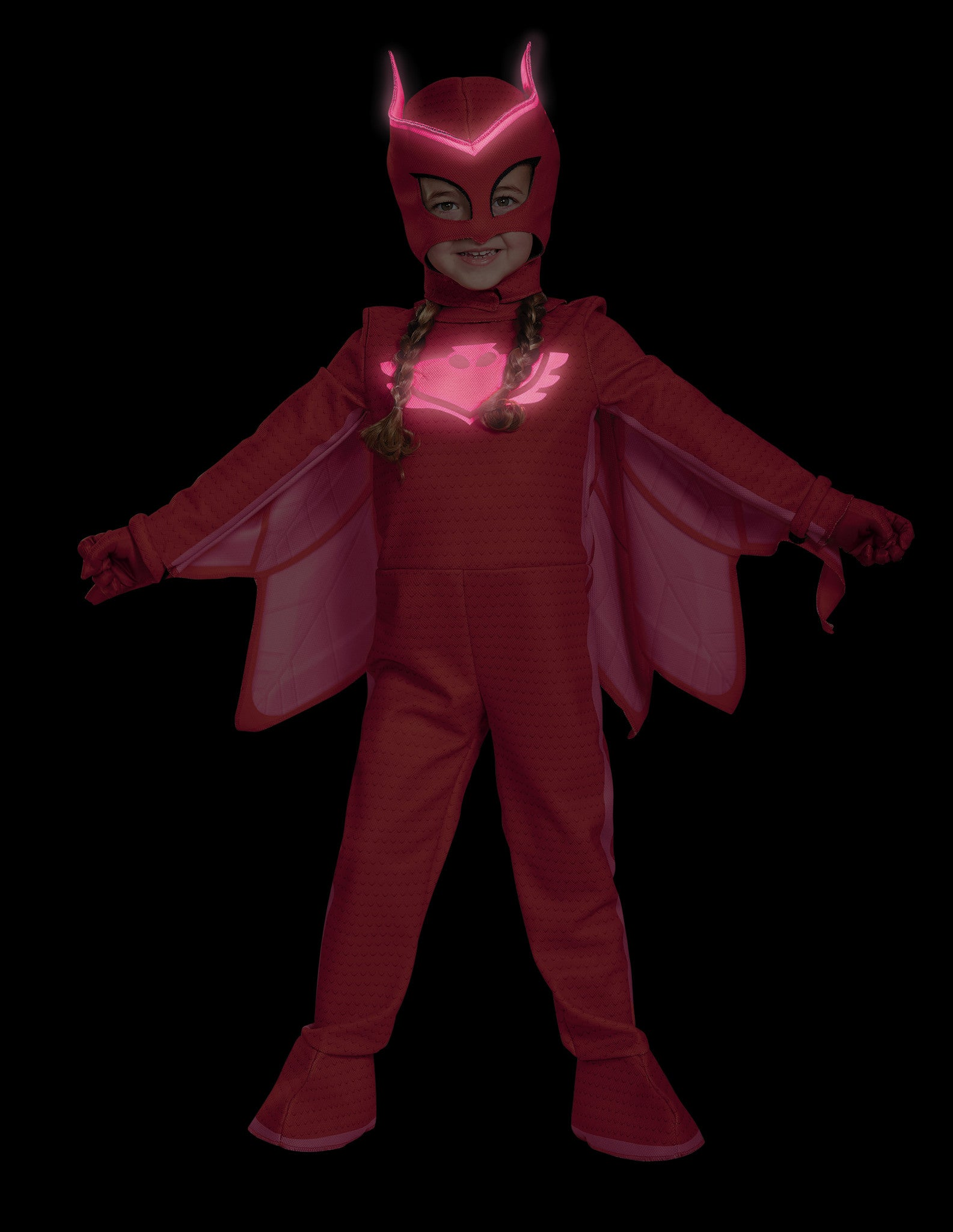Girls PJ Masks Deluxe Owlette Costume