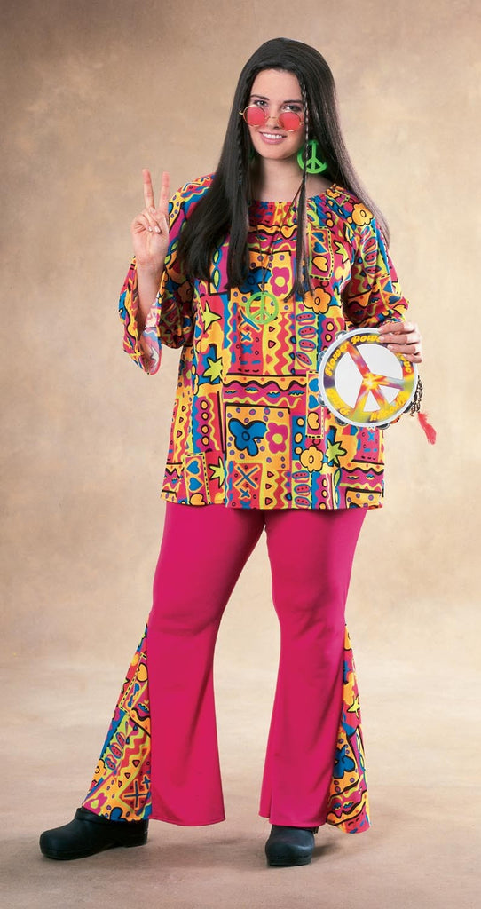 Womens Plus Size Hippie Costume