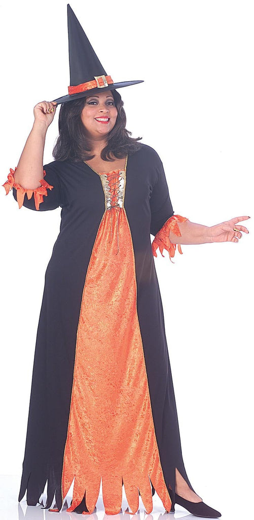 Womens Plus Size Gothic Witch Costume