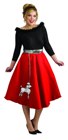 Womens Plus Size 50's Poodle Babe Costume
