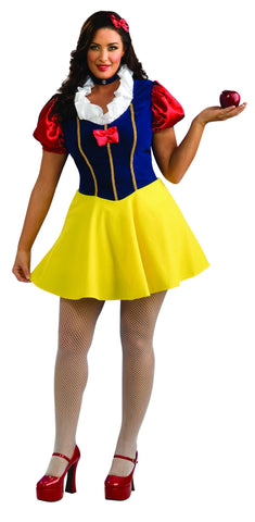 Womens Plus Size Snow White Costume