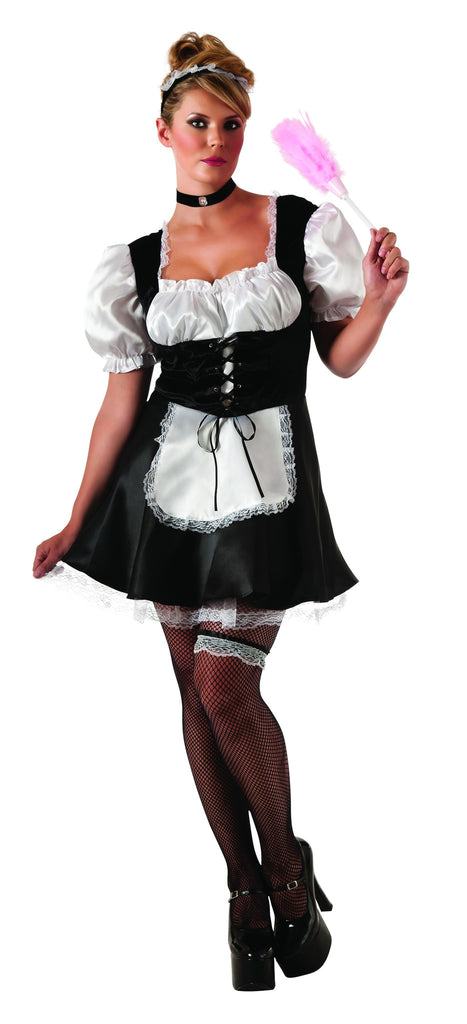 Womens Plus Size French Maid Costume