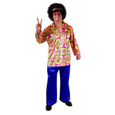 Mens Plus Size 60's Purple Daze Costume