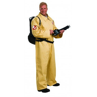 Mens Plus Size Deluxe Ghostbuster Costume