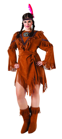Womens Plus Size Native American Costume