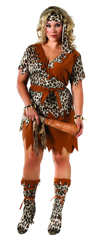 Womens Plus Size Cavewoman Costume
