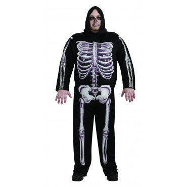 Mens Plus Size Skeleton Costume