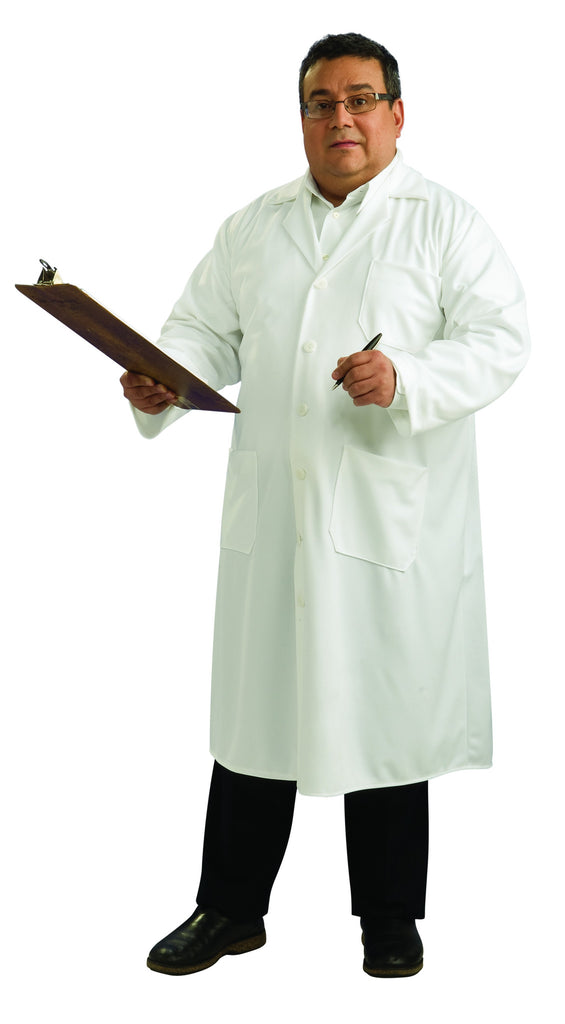 Adults Plus Size Lab Coat