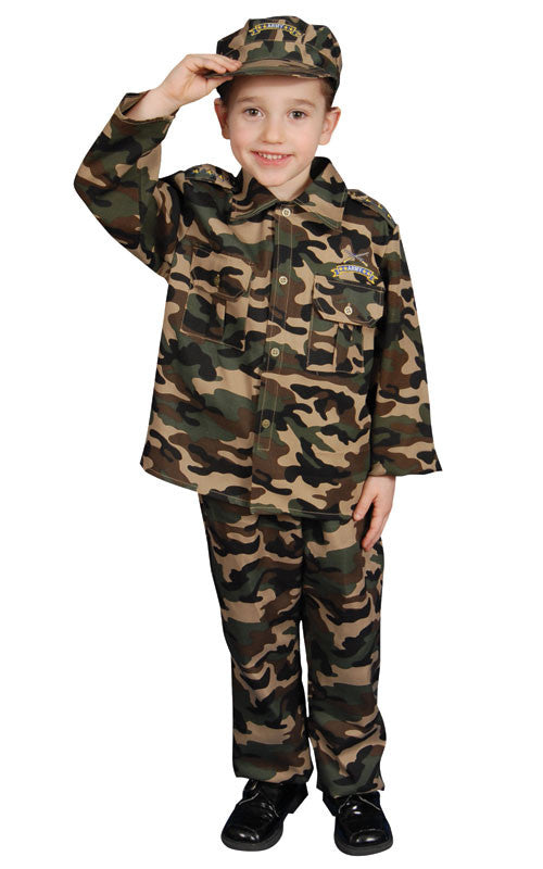 Kids/Toddlers Army Soldier Costume