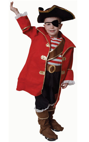 Kids/Toddlers Pirate Captain Costume