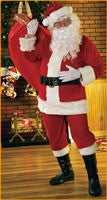 Mens Velour Santa Suit