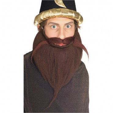 Brown Beard and Mustache Set