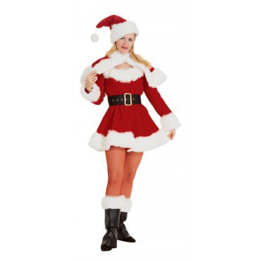 Womens Velvet Miss Santa Costume