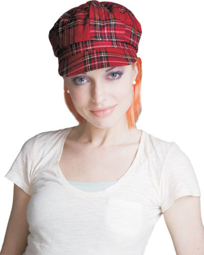 Red Plaid Hat w/ Orange Hair