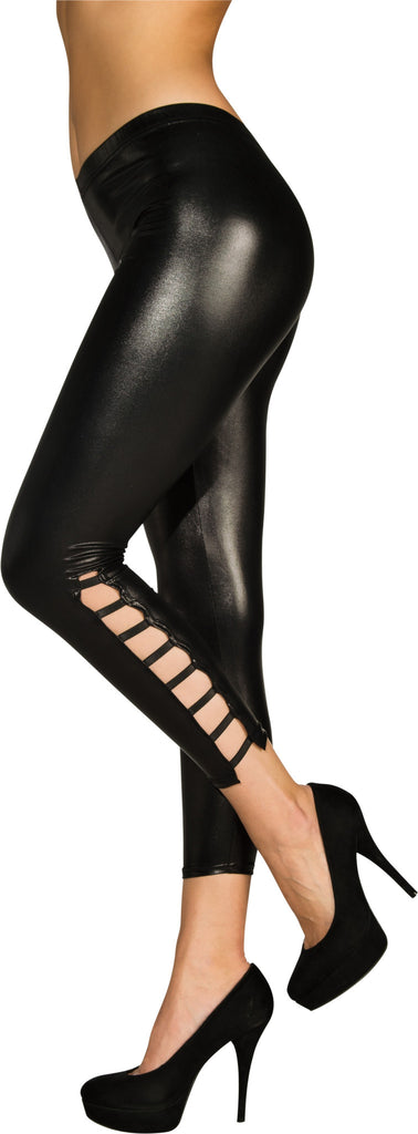 Adults Wet Look Leggings