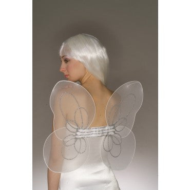White Chiffon Angel Wings