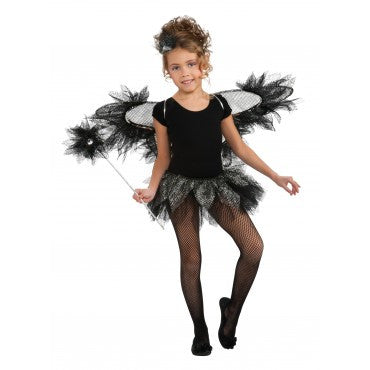 Girls Black Fairy Accessory Kit