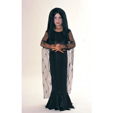Girls Addams Family Morticia Costume