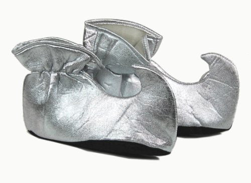 Costume Elf Shoes Silver Cloth Costume Elf Shoes