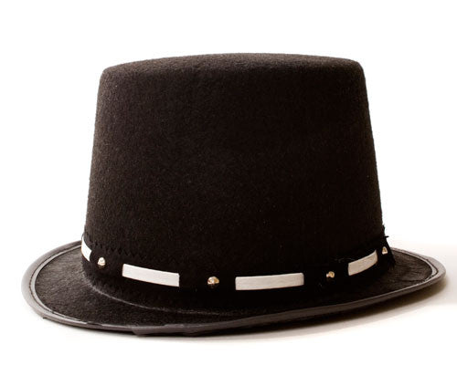 Black Top Hat w/ Silver Trim