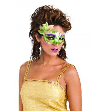 Green Gold and Purple Carnival Eyemask