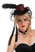 Red Mini Saloon Girl Hat