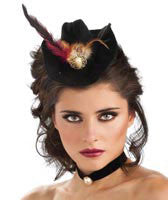 Mini Cowgirl Hat with Feather
