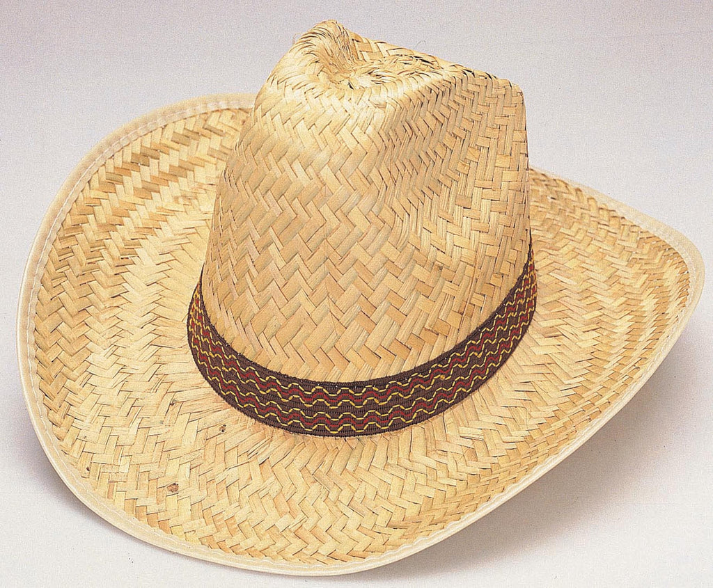 Straw High Crown Western Hat