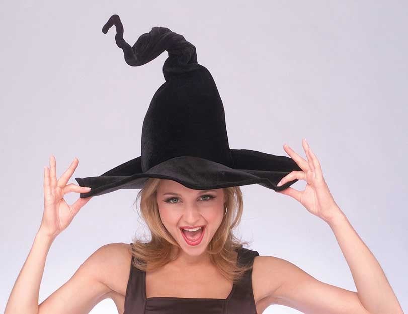 Black Wired Witch Hat