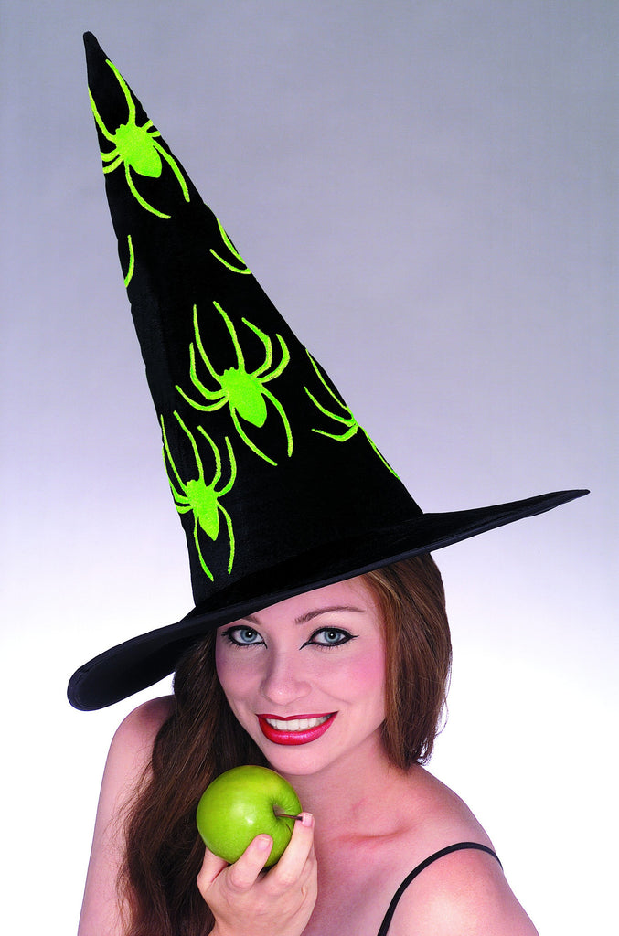 Velvet Spider Witch Hat